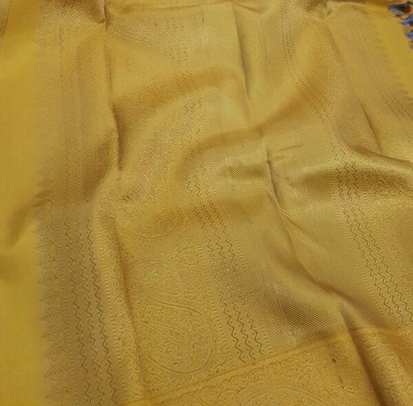grey and mustarf silk saree3