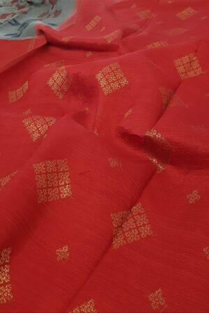 grey and red with kalamkari1