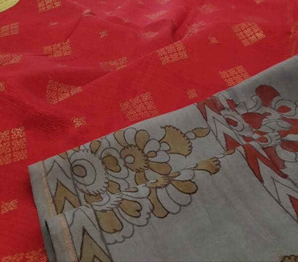 grey and red with kalamkari2