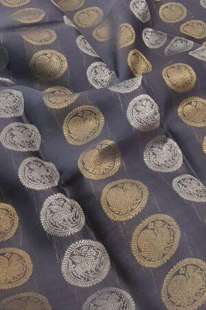 grey rising border kora silk saree1