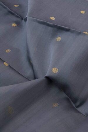 grey with mustard border kora silk saree1