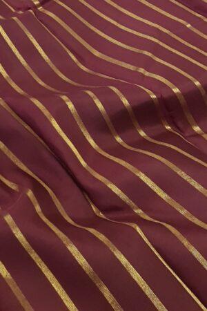 maroon with mint green zari lines kanchipuram silk saree1