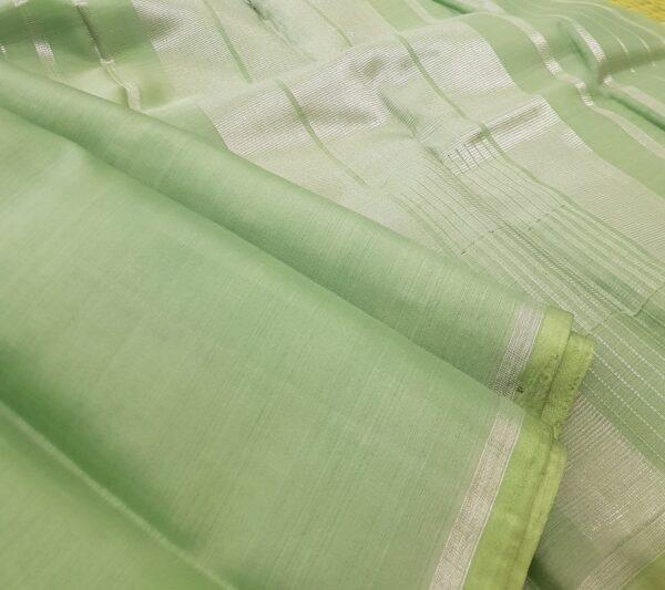 mint green palin kora silk sare1