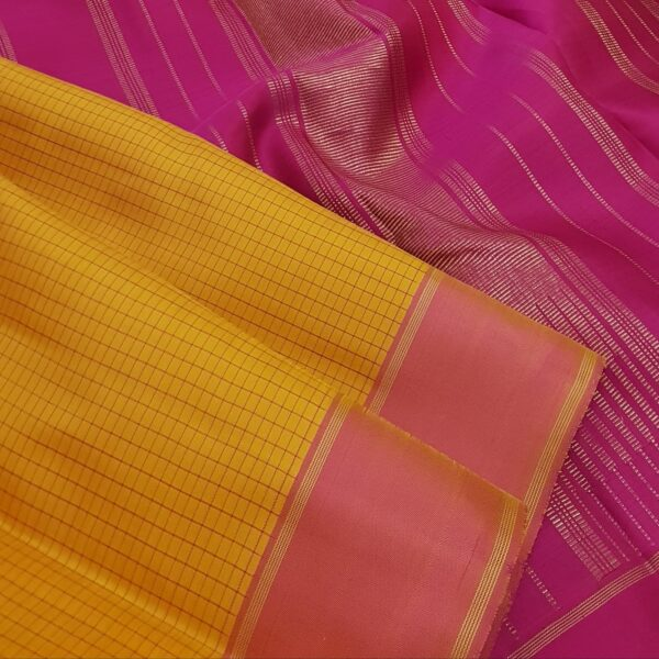mustard with pink border and checks on the body2