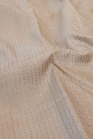 off white kanchipuram silk saree with veldhari1