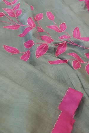 russian green with pink leaf print2