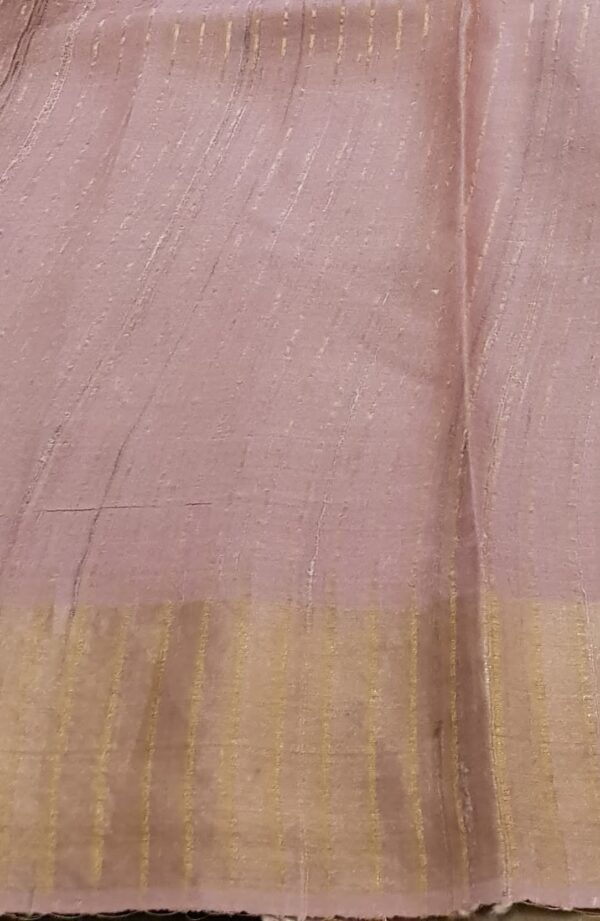 Golden beige with umbrella print tussar saree3