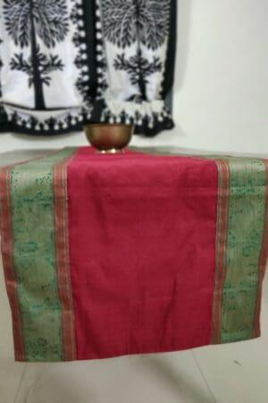Arakku plain cotton table runner