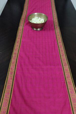 pink handloom cotton table runner 2