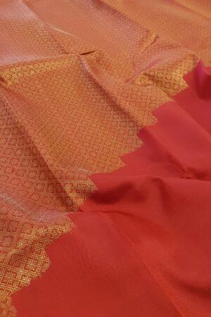 Red rising border kanchi silk saree1