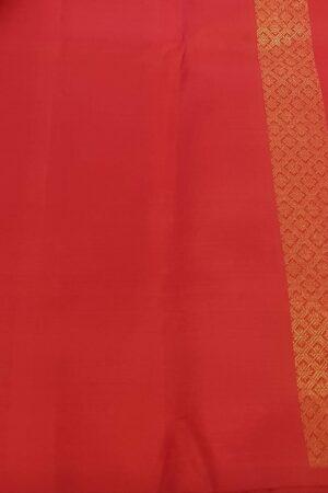 Red rising border kanchi silk saree3