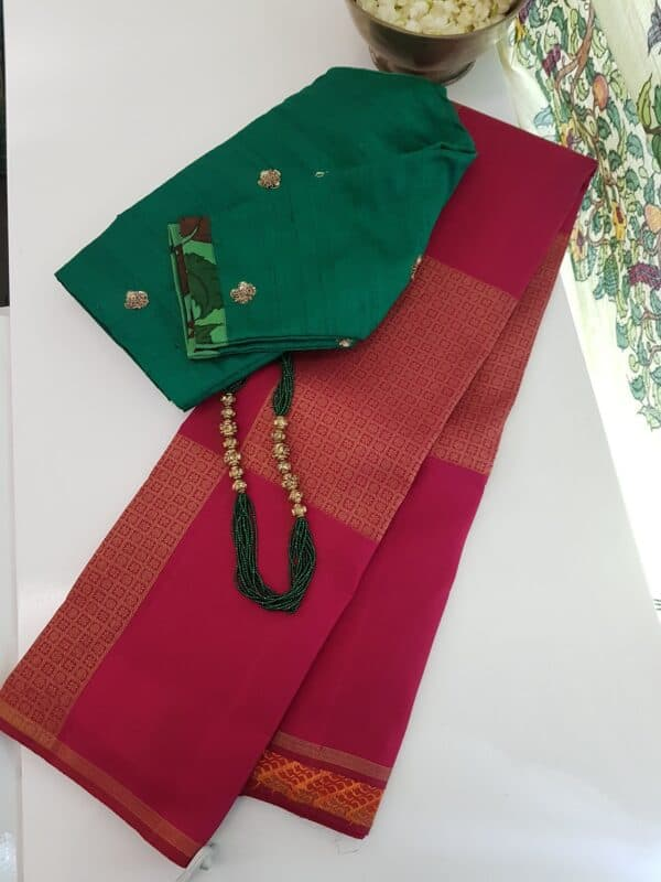 arakku upada kanchipuram silk saree