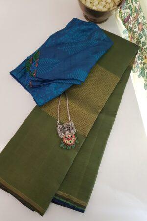 blue green upada silk