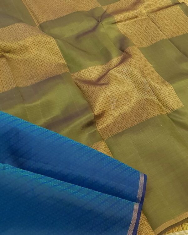 blue green upada silk1