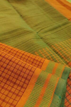 burnt orange kanchi cotton saree1