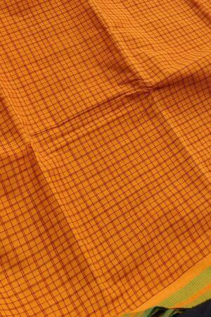 burnt orange kanchi cotton saree2