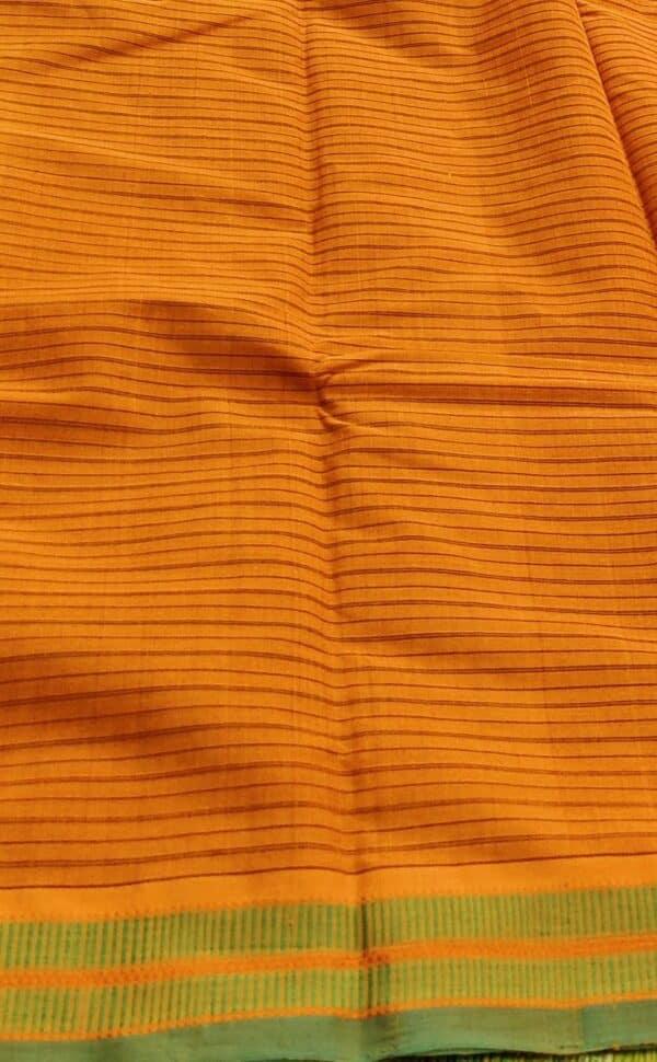 burnt orange kanchi cotton saree3