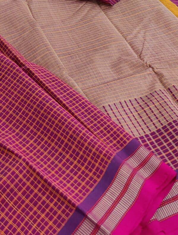 dark pink kanchi cotton saree1