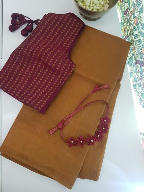 gold tissue tussar saree
