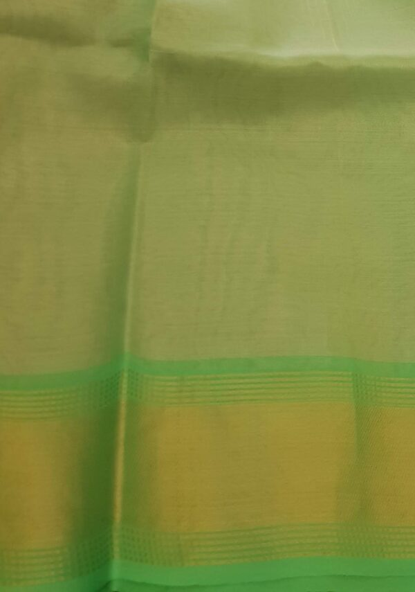 gold with green tissue tussar saree3