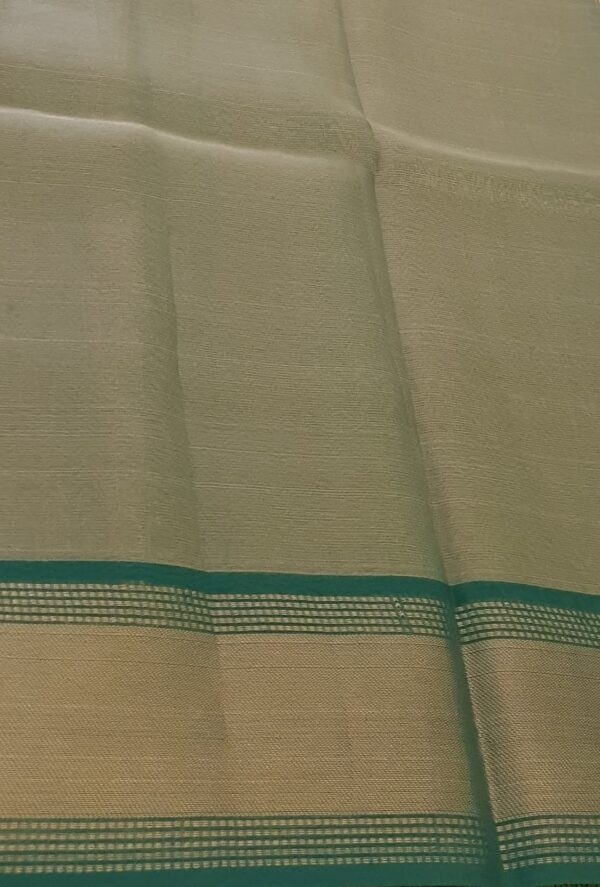 gold with green tissue tussar saree5