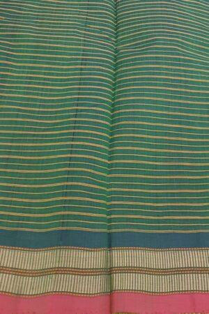 green kanchi cotton with checks body2