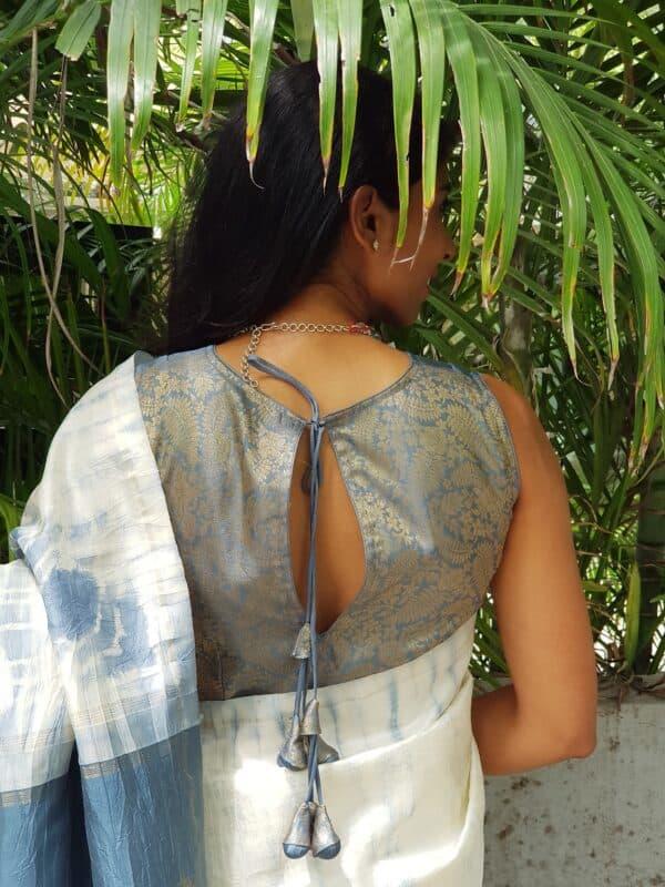 grey silk sleeveless blouse1