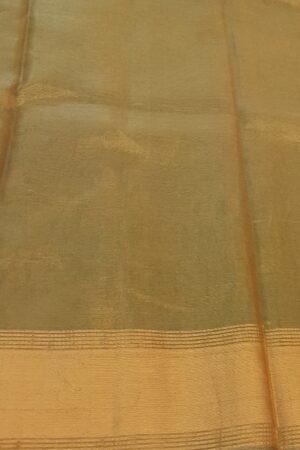 light gold tissue tussar saree2