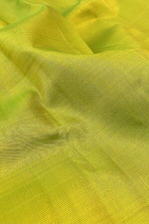 lime green kanchipuram silk saree with vaira oosi lines1