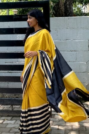 mustard with black and beige1