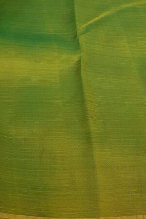 peach and mustard half and half kalamkari kanchipuram3