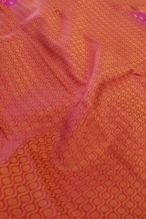 pink and orange box type kanchipuram silk saree4