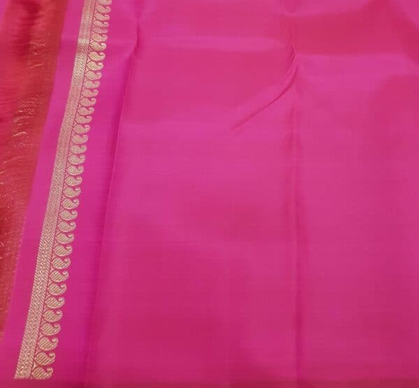 pink and orange upada style box type kanchipuram silk saree3