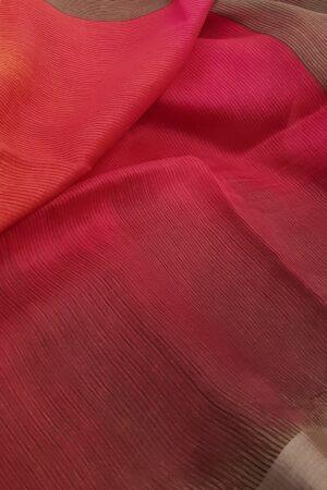 pink linen moonga saree1