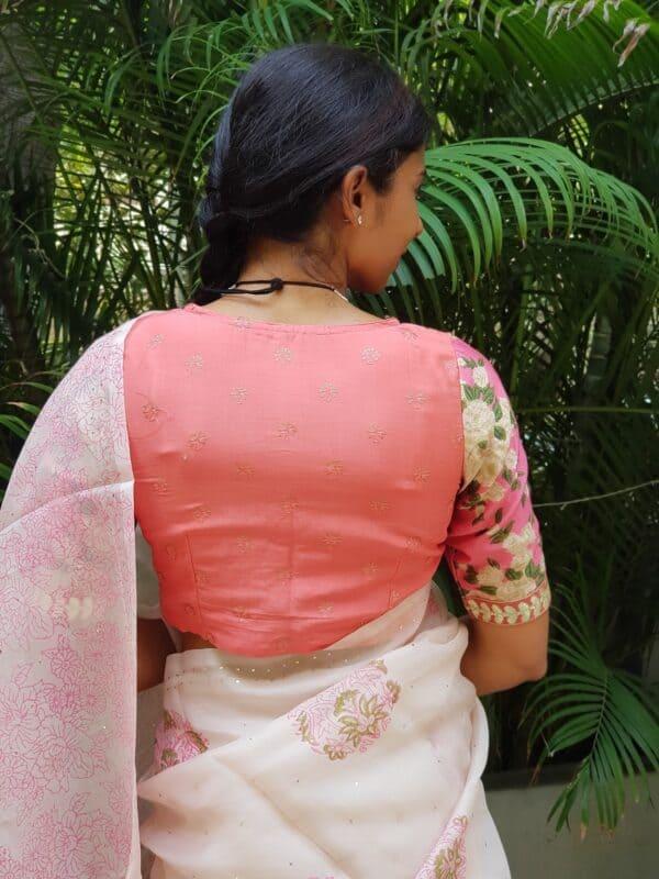 pink prakruthi floral blouse1