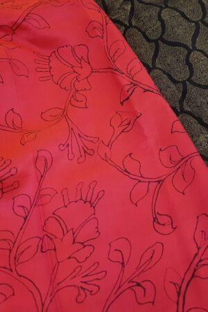 pink with black kanchi silk pallu2