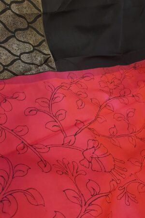 pink with black kanchi silk pallu3