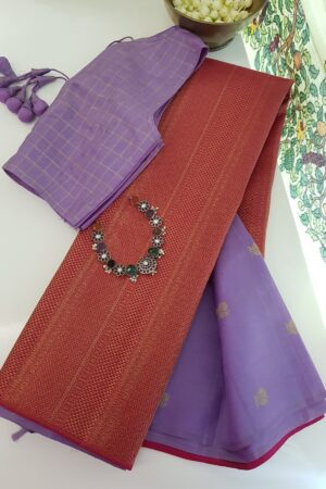 purple and pink shoulder design saree1