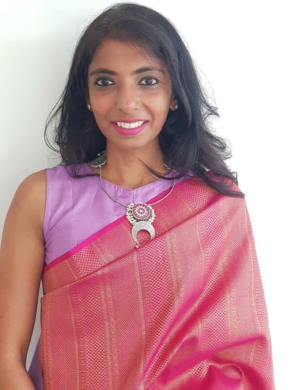 purple silk sleeveless blouse