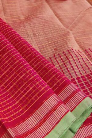 red kanchi cotton saree1
