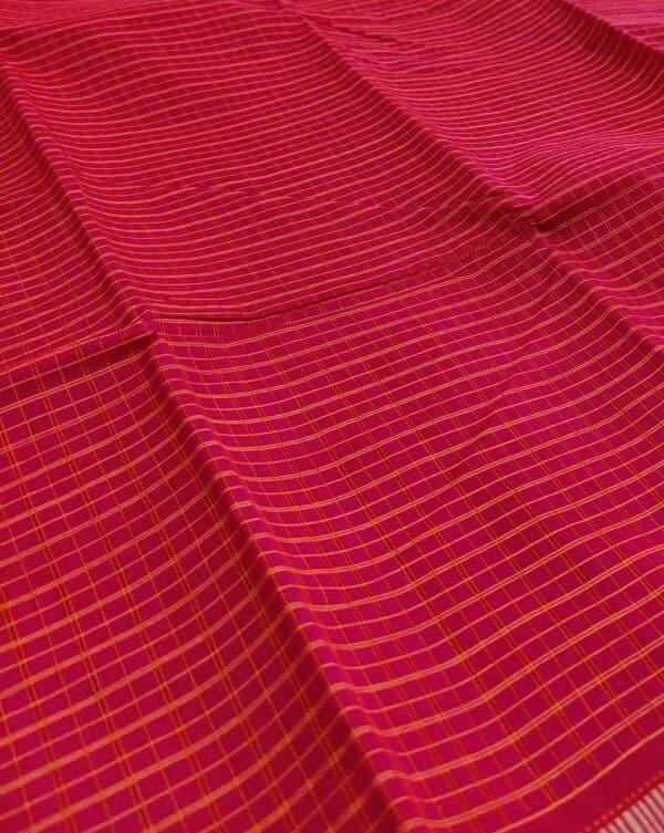 red kanchi cotton saree2
