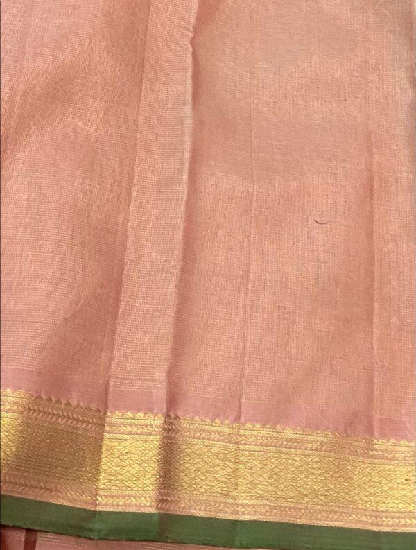salmon pink vaira oosi kanchipuram silk saree4