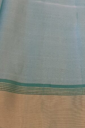 silver with green tissue tussar saree2