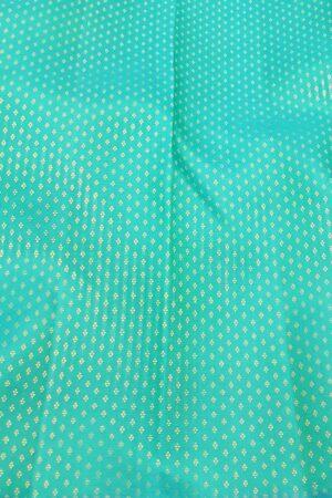 teal green half rising kanchi silk saree3