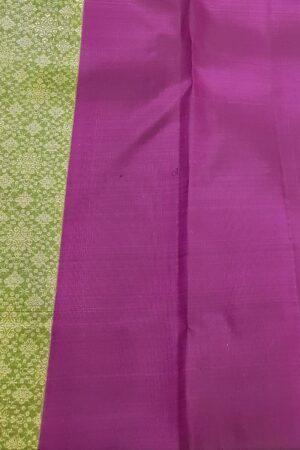 violet and green box pattern kanchi silk saree2