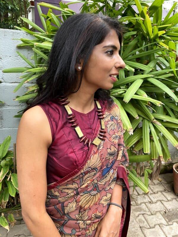 wine silk sleeveless blouse