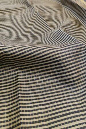black and beige checks with black silk pallu1