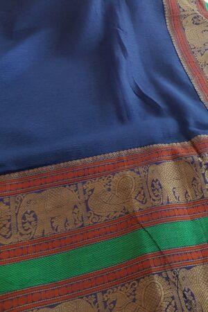 blue chiffon saree2