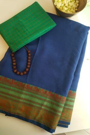 blue chiffon saree3