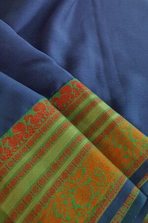 blue chiffon saree5